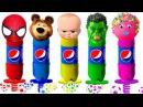 Johny Johny Yes Papa Boss Baby halk spiderman The Bear Cake Pepsi Bottles Colors Learn