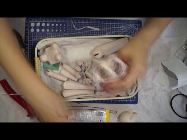 Шарнирная кукла своими руками с нуля часть 15. Проклейка шарниров