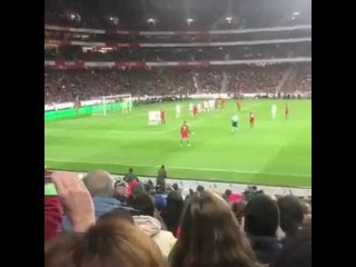 Fan cam footage of Cristiano Ronaldo's free kick Goal Portugal vs Hungary