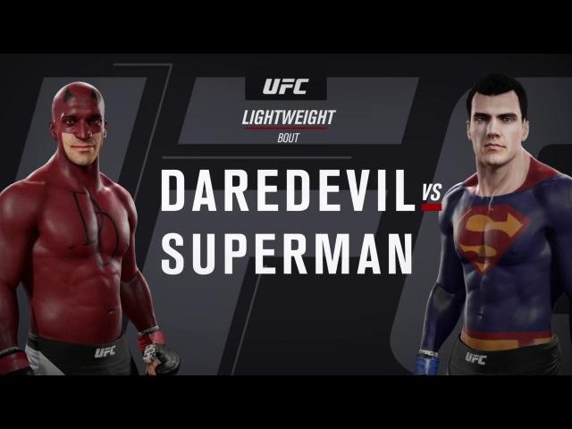 Сорвиголова и Супермен (EA Sports UFC 2)