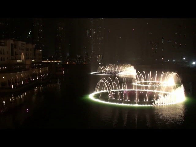 Самый красивый танцующий фонтан в мире Дубаи