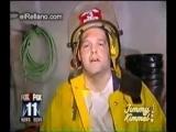 Пожарный и горящая марихуана
