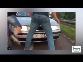 Негостеприимный поляк: как украинцев на границе на капоте катали