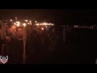 Шарлотсвилл, 11 августа, 2017 .Факельное шествие
