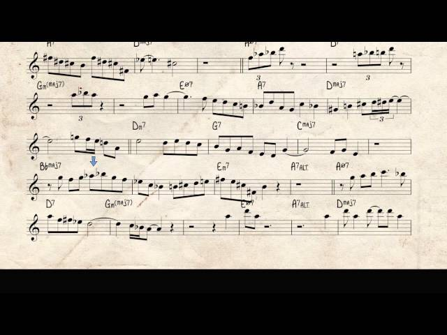 What is this thing called love, Woody Shaw jazz trumpet solo videoscore, Bb version