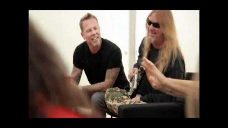 (Metallica) James Hetfield having fun with Slayer
