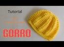 Como tejer gorro puff y varetas en relieve varios talles