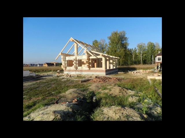 строительство дома-бани из алтайского кедра