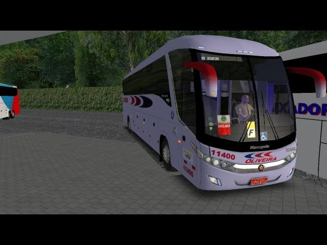OMSI 2 - Marcopolo G7 Paradiso 1200 Scania - Viação Oliveira - MapAdventure - Cockpit Águia