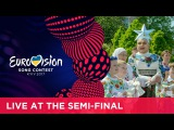 Verka Serduchka at the first semi-final of the 2017 Eurovision Song Contest
