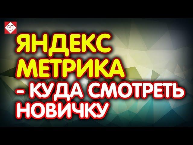 Яндекс Метрика - куда смотреть новичку. Яндекс метрика для начинающих Урок первый