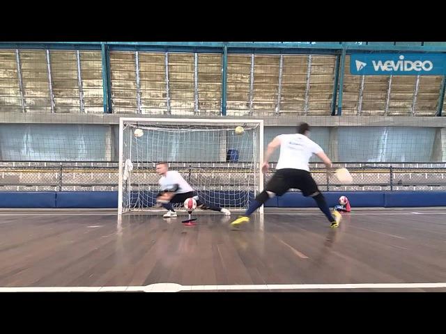Primeiro dia de treino específico com goleiro Gustavo Moretto (Dudu77)