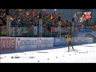 🇩🇪 Лаура Дальмайер - чемпионка мира в масс-старте, Данкли - серебро, Мякяряйнен - бронза - Хохфильцен 2017