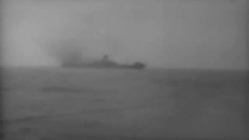 "Torpedoed By USS Silversides (SS-236), The Japanese Ship ""Johore Maru,"" Burns, Sinks, 10⁄43 (full)"