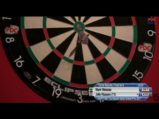 Mark Webster vs Jelle Klaasen (European Darts Grand Prix 2017 / Round 3)