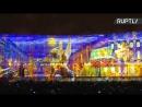 Фестиваль света в Петербурге красочное шоу на Дворцовой площади