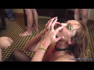 [SouthernBukkake] Lindsey 2 [Bukkake, Blowjob, Blowbang, Cumshot, Sperm, Facial, Slut, Отсос, Шлюхи, Сперма на лице, Буккакэ]