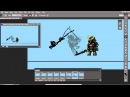 Planet Centauri How to pixel art 3 Shadow Armor attack animation