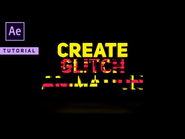 Amazing Glitch Animation in After Effects Complete After Effects Tutorial No Third Party Plugin