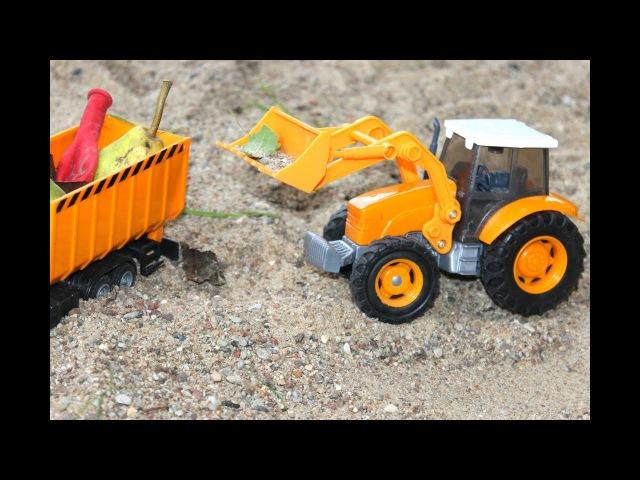 Мультик для Детей про Транспорт коммунальных служб Игрушечные машинки для маль ...