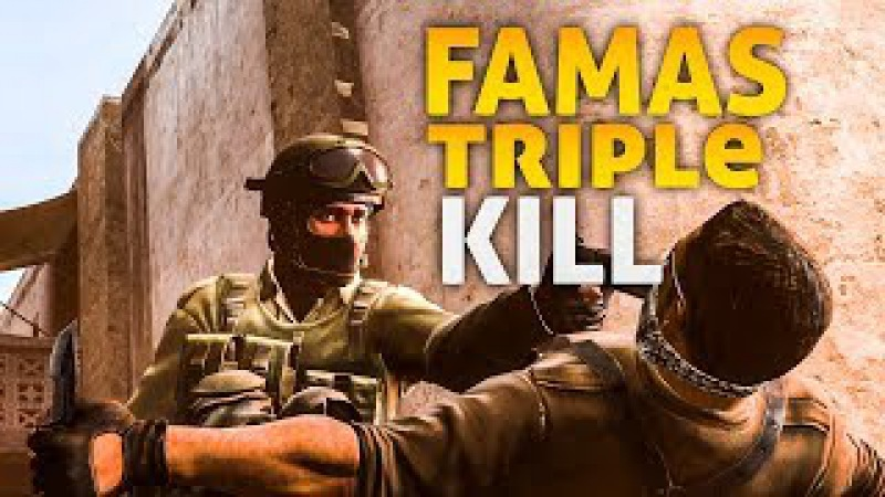 FAMAS TRIPLE KILL ( -3 ) DUST 2 (MM ) ( CS:GO ) HyperXSensei