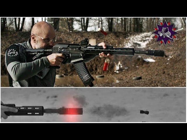 Выстрелы из ружья в супер замедленной съёмке - часть 1