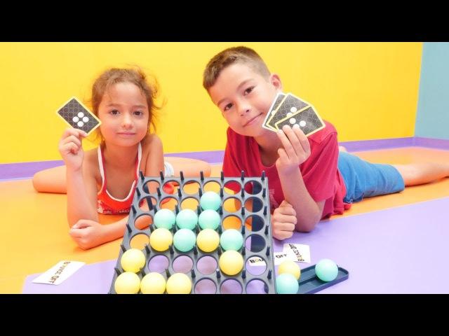 YENİ abi kardeş OYUNU 🔵⚪ Bounce off! Masa ZEKA oyunu. Çocuk eğitici etkinlikleri. Okul öncesi