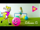 Ri Learn Colors Football vs DADDY Video for Kids Toddlers Bad Baby Учим Цвета с Папой Soccer