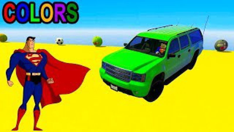 Action Superheroes And Color Motor Vehicles In 3D Episode 1 | Color Cars Stunt Fun Animated Cartoon