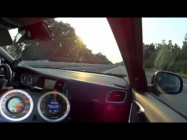 VOLVO S60 T6 3.0L HEICO SPORTIV timelaps Netherland and full of gas on the German Autobahn