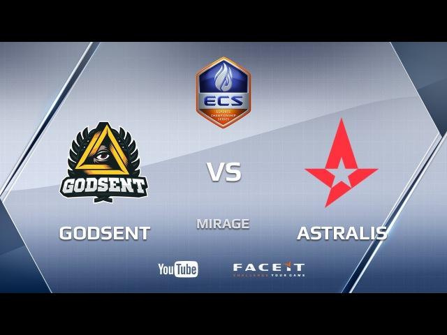 GODSENT vs Astralis, mirage, ECS Season 4 Europe