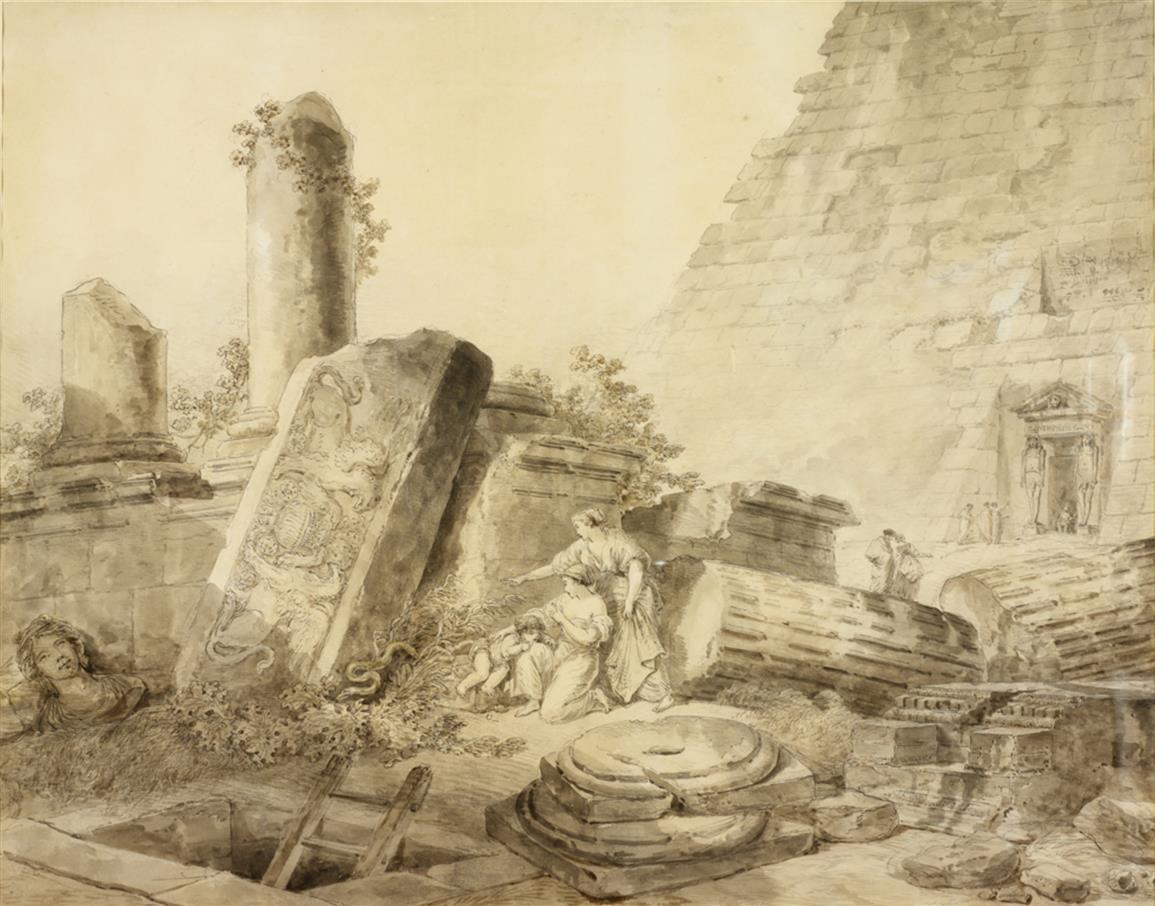 пирамида цестия рим юбер