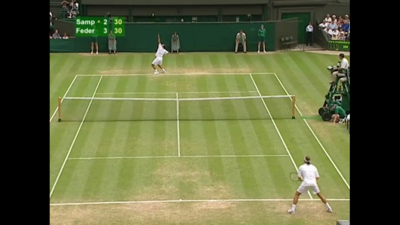 Roger Federer vs Pit Sampras Wimbledon 2001