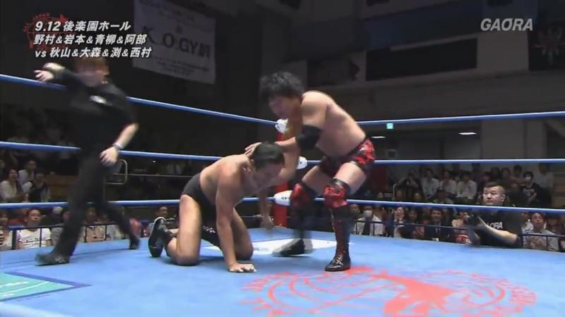 Jun Akiyama vs. Masanobu Fuchi vs. Fuminori Abe, Koji Iwamoto, Naoya Nomura, Yuma Aoyagi vs. Osamu Nishimura vs. Takao Omori