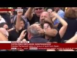 Реакция каталонцев на объявление независимости