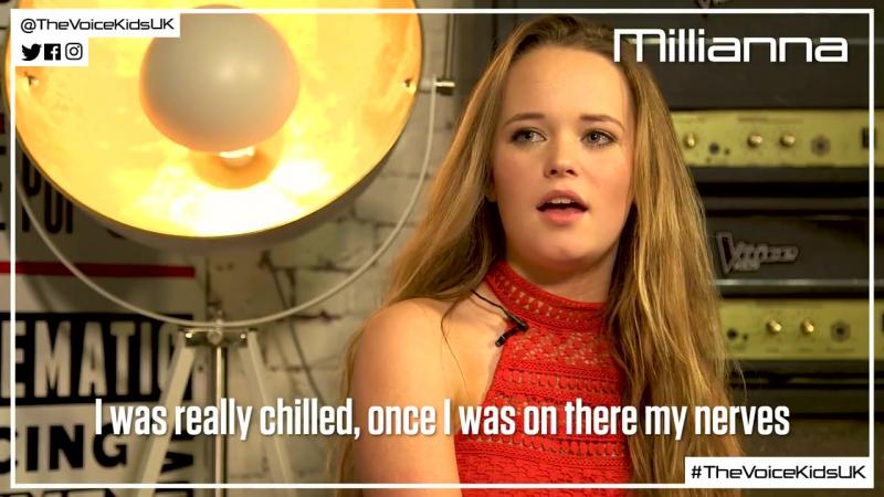 Millianna chats to Cel about how it felt when Danny Jones hit his button (The Voice Kids UK 2017)