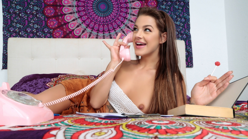 Get Off The Phone Evelin Stone Tony Rubino Brunette, Cheating, Couples Fantasies, Natural Tits, Stepsister,