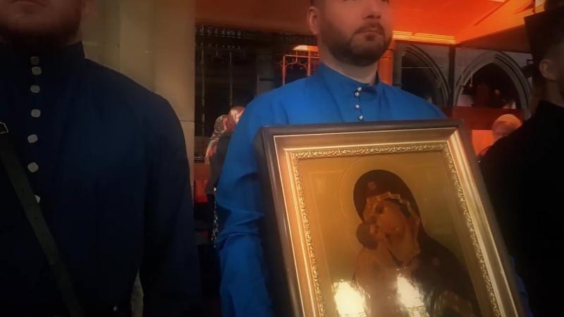 Принесение в дар приходу г. Глазго Донской иконы Божьей Матери.