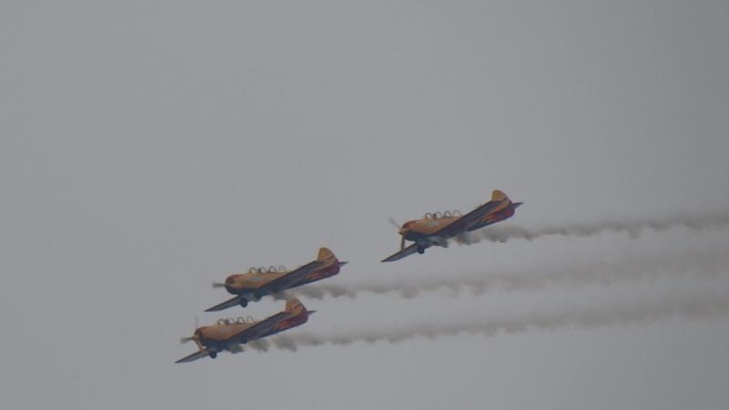 Пилотажная группа на Як-52