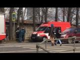 Эвакуация политехнического коледжа № 50 в Зеленограде