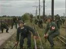 Die deutschen Soldaten und Partisanen