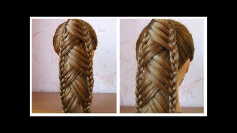 Tuto coiffure: queue de cheval originale et simple 🌸 Coiffure avec tresse, facile à faire