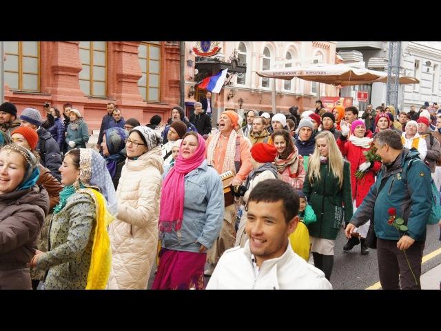 Праздничная харинама на Кузнецком мосту. Москва, 9 мая 2017 г.