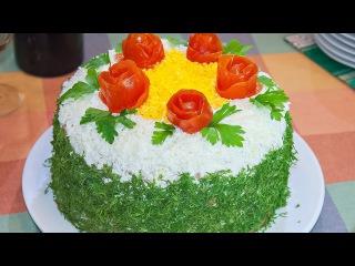 Вкусный печёночный торт на сковороде VARI