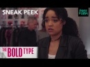 The Bold Type Season 1 Episode 9 Sneak Peek Adena Is Held At The Airport Freeform