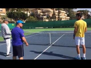 Novak Djokovic Training Live - Monte Carlo 2017