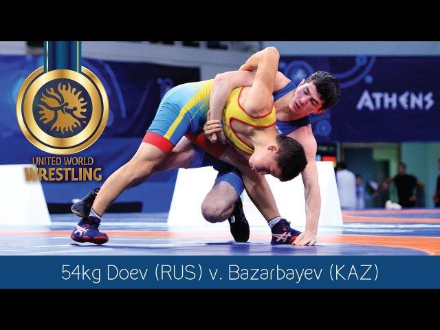 GOLD GR - 54 kg: G. DOEV (RUS) df. N. BAZARBAYEV (KAZ) by VPO1, 7-5