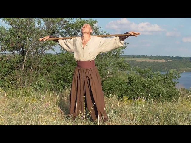 Cossack Ukraine. Long stick (improvised weapons), Hopak.