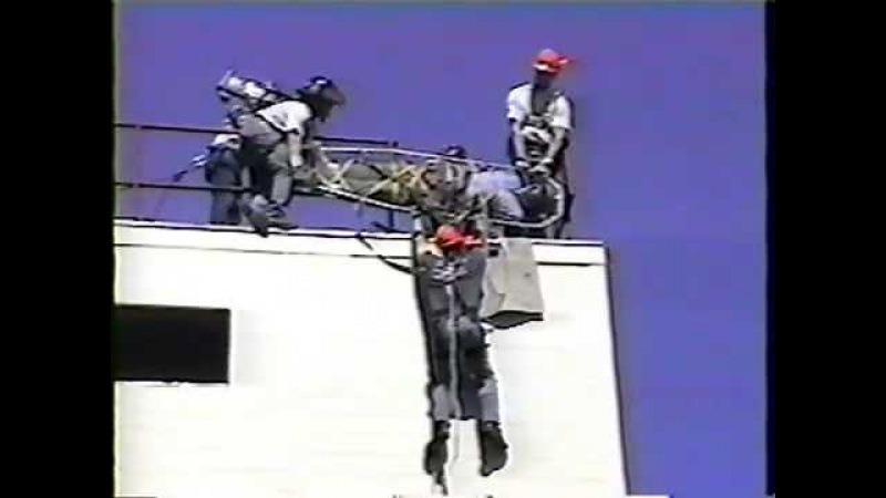 Rope rescue training gone wrong.