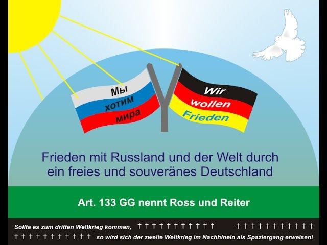 Wenn das Deutsche Volk um Hilfe bittet, wird Russland helfen